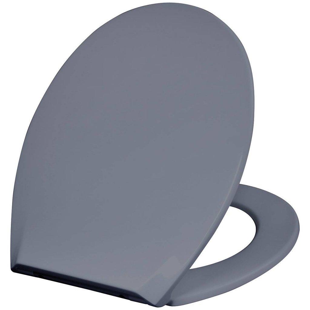 Nykomna Mjukstängande grått toalettlock som passar de flesta toaletter. CF-57