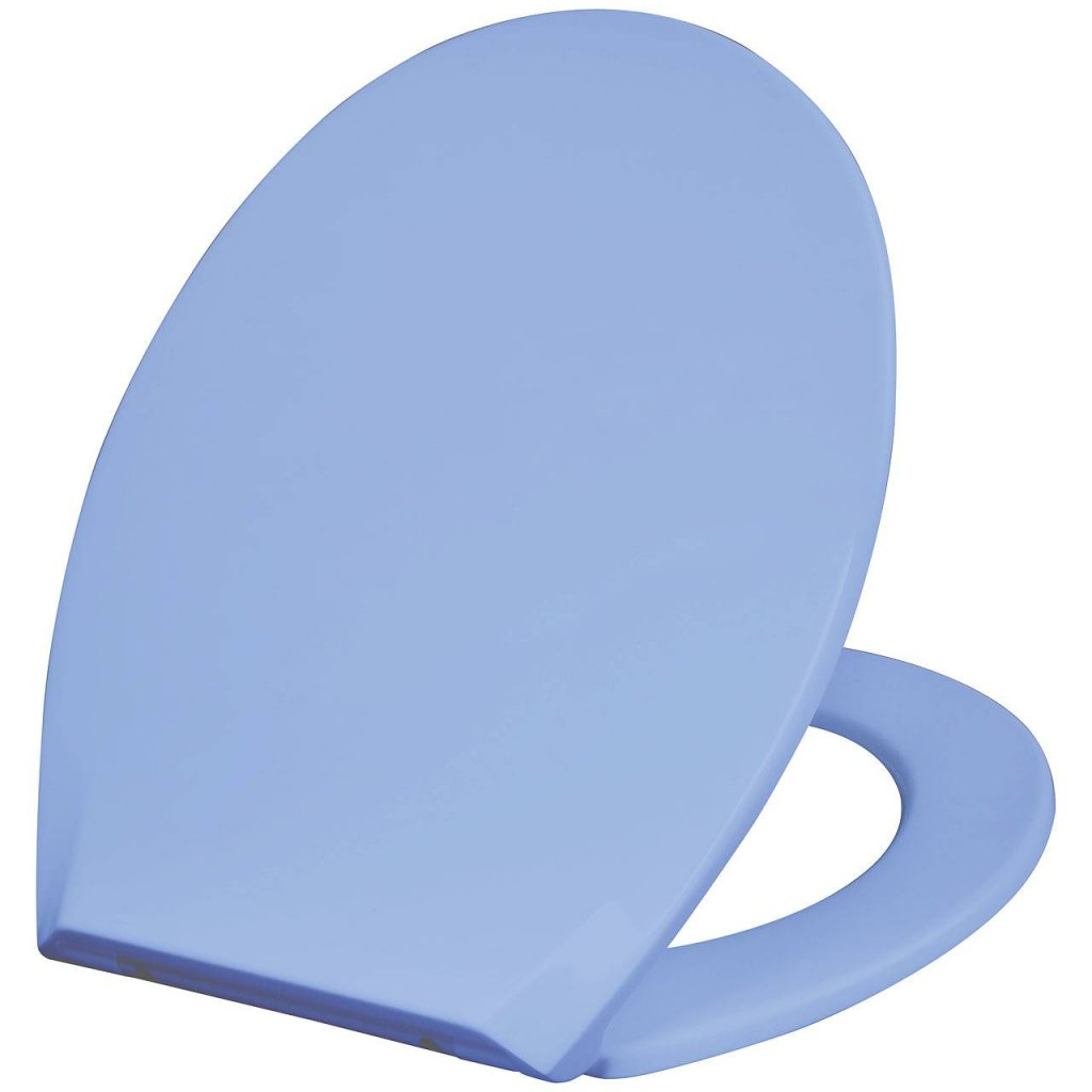 Populära Mjukstängande blått toalettlock som passar de flesta toaletter. CA-39