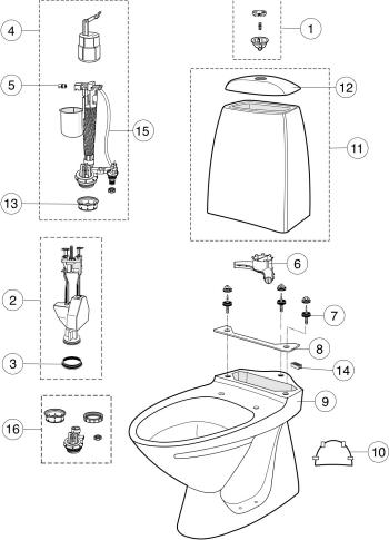 ifö cera toalettsits reservdelar